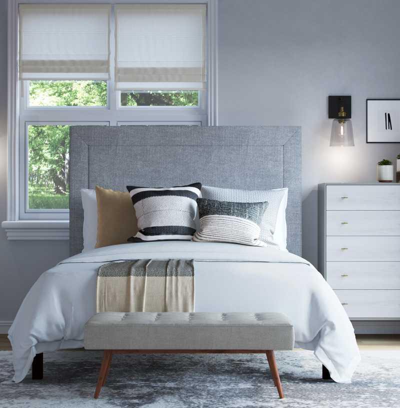 Modern, Minimal, Scandinavian Bedroom Design by Havenly Interior Designer Makena