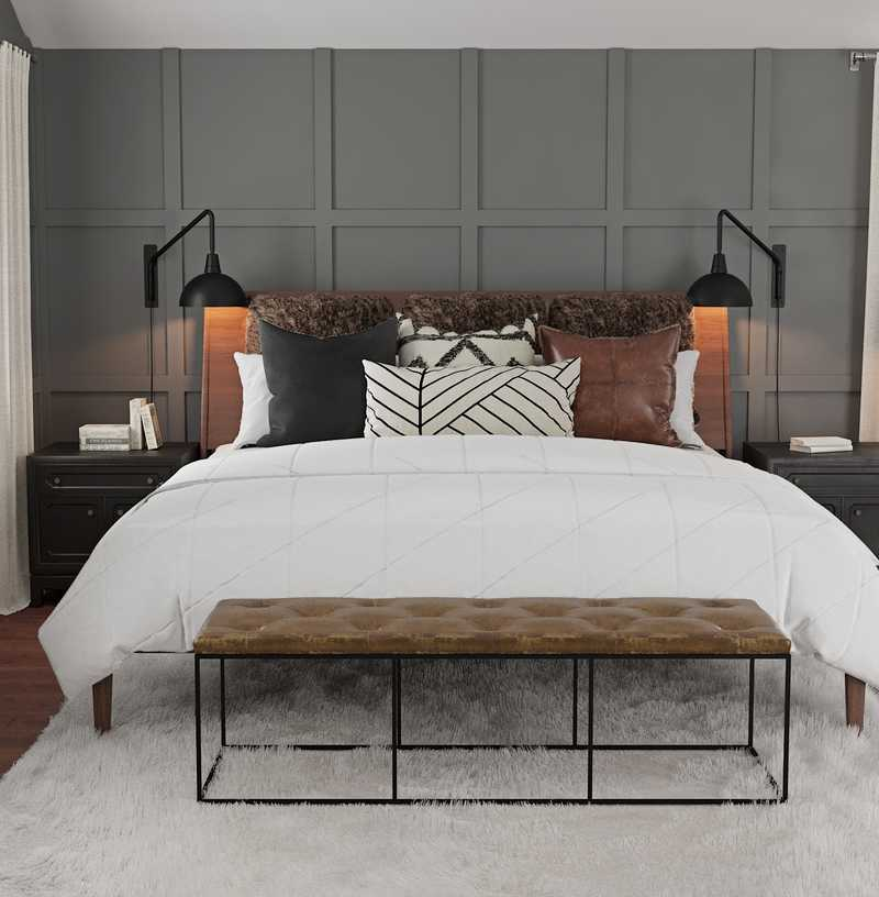Modern, Industrial Bedroom Design by Havenly Interior Designer Hannah