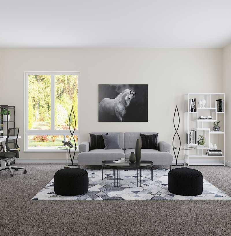 Contemporary, Modern Living Room Design by Havenly Interior Designer Anny