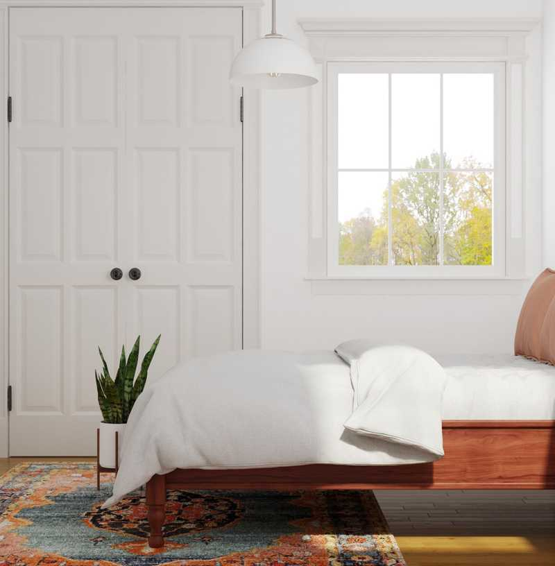 Eclectic, Midcentury Modern Bedroom Design by Havenly Interior Designer Logan