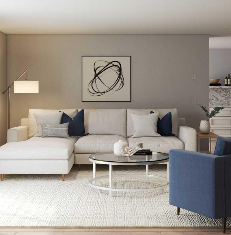 Contemporary, Minimal, Scandinavian Living Room Design by Havenly Interior Designer Jodi