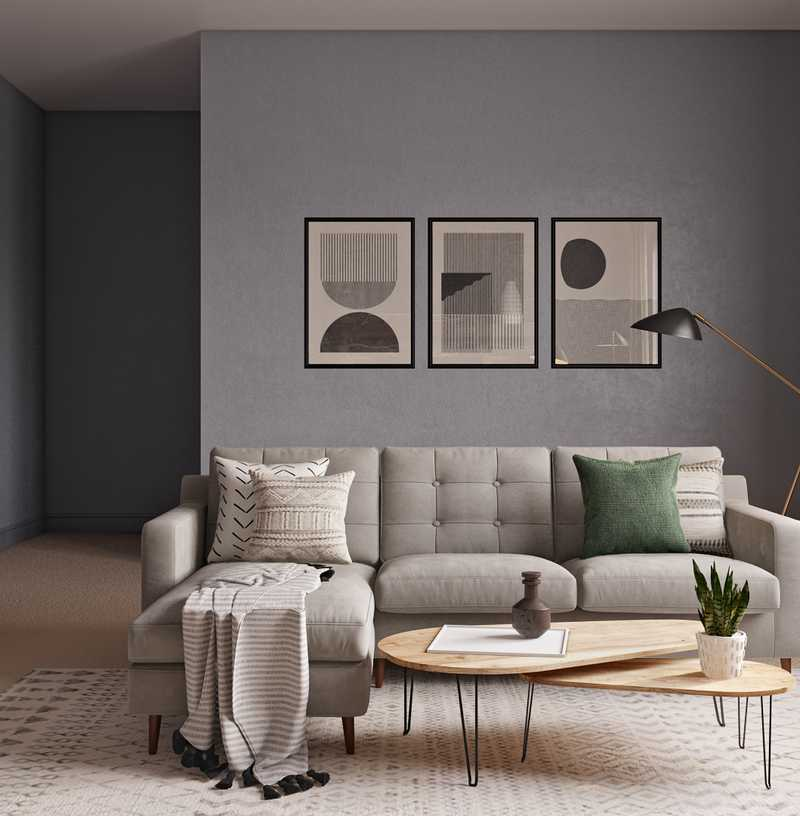 Contemporary, Modern, Midcentury Modern, Scandinavian Living Room Design by Havenly Interior Designer James