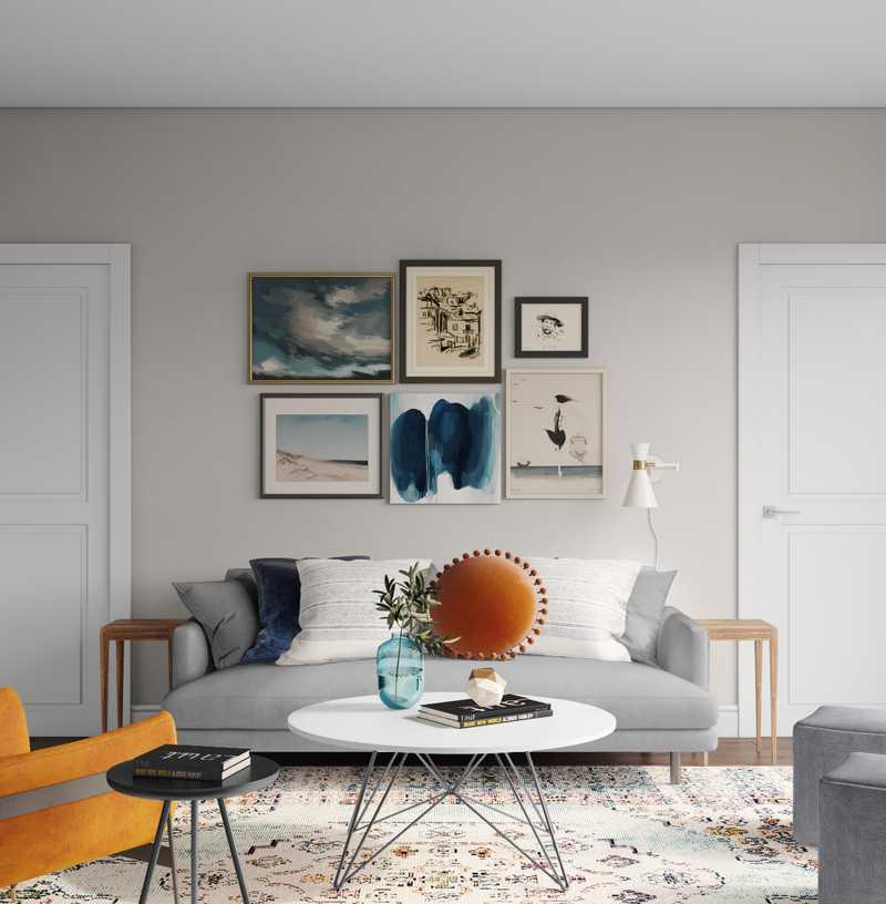 Modern, Midcentury Modern, Scandinavian Living Room Design by Havenly Interior Designer Abi