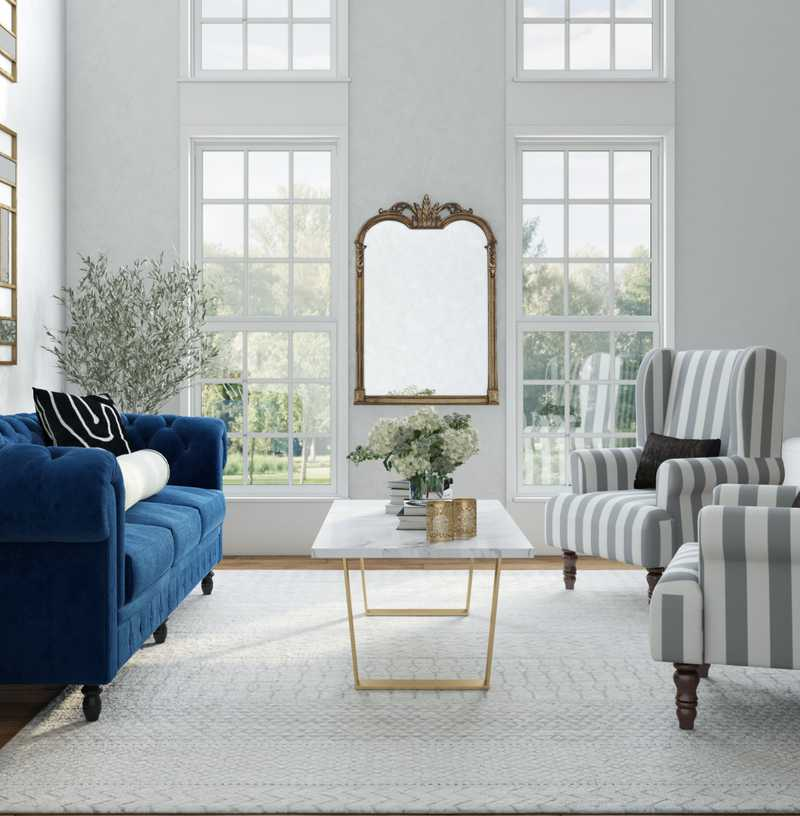 Modern, Eclectic, Glam, Traditional Living Room Design by Havenly Interior Designer Tessa