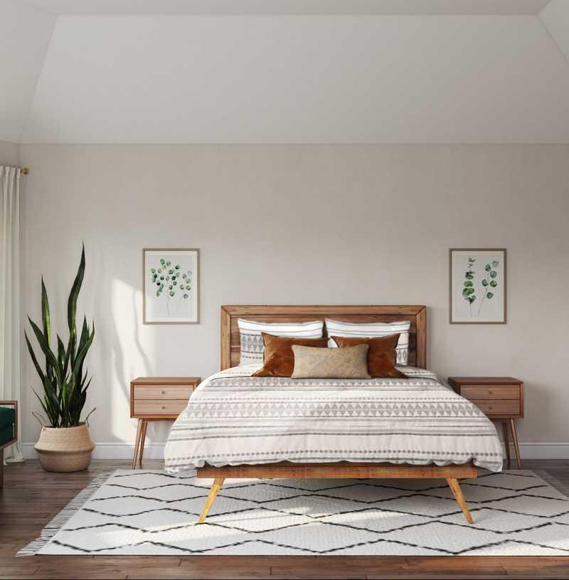Midcentury Modern, Scandinavian Bedroom Design by Havenly Interior Designer Kyla