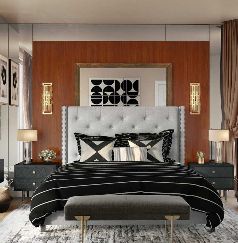 Modern, Glam Bedroom Design by Havenly Interior Designer Ashley