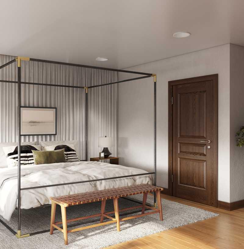 Modern, Industrial, Rustic Bedroom Design by Havenly Interior Designer Kelsey