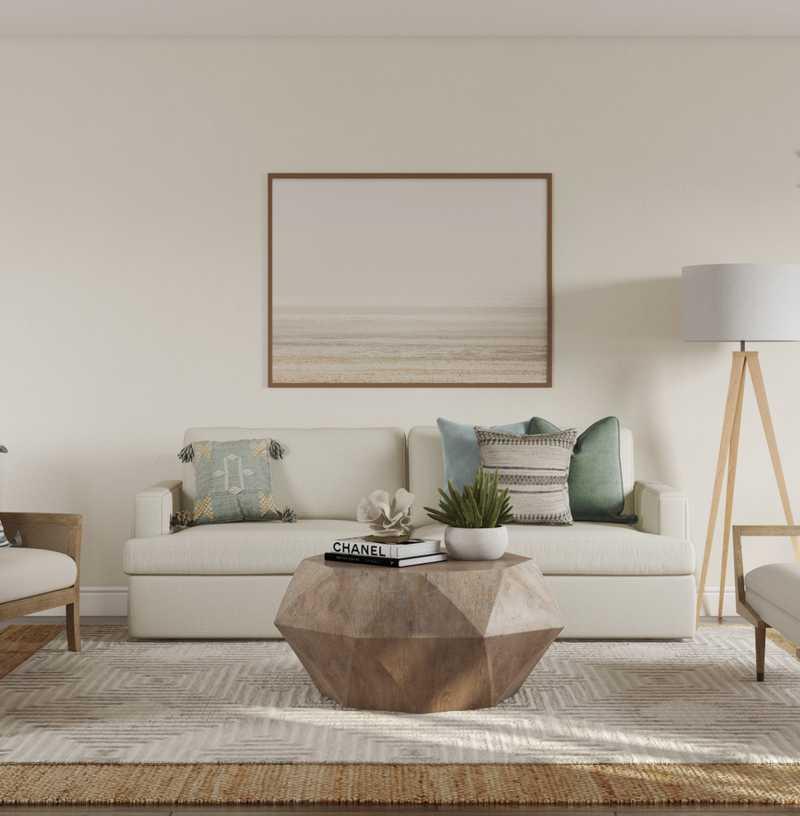 Contemporary, Classic, Coastal Living Room Design by Havenly Interior Designer Abby