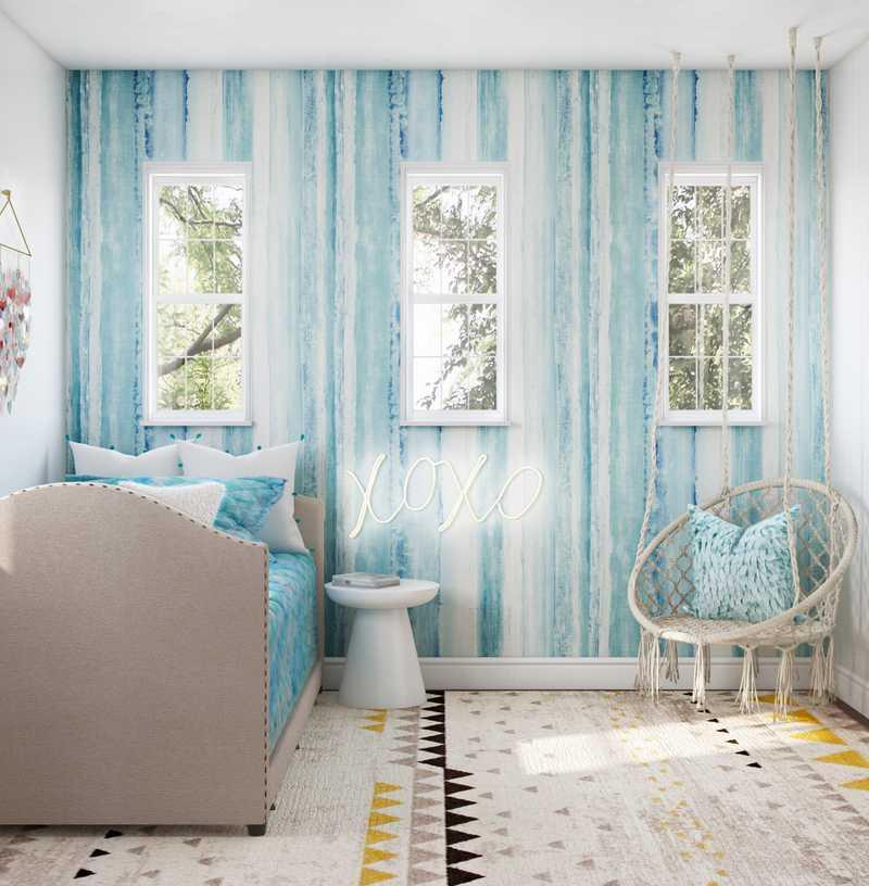 Modern, Glam, Preppy Bedroom Design by Havenly Interior Designer Arissa