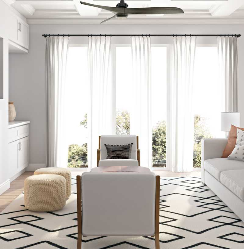 Coastal, Midcentury Modern, Scandinavian Living Room Design by Havenly Interior Designer Carsey