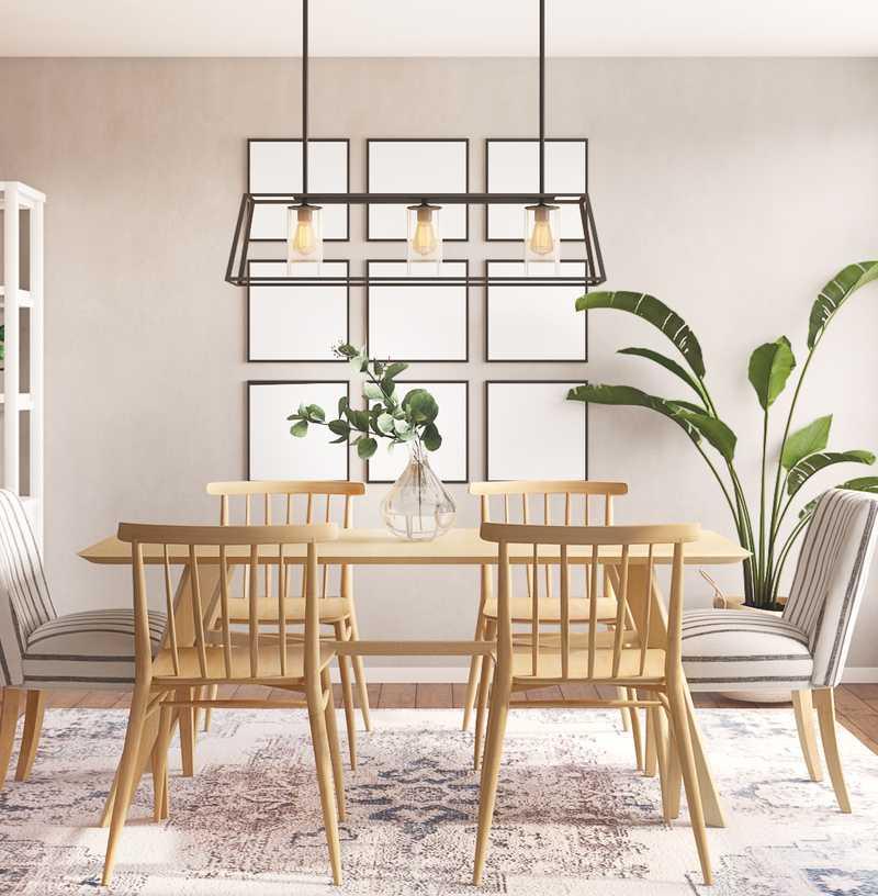 Classic, Coastal, Minimal Dining Room Design by Havenly Interior Designer Amanda