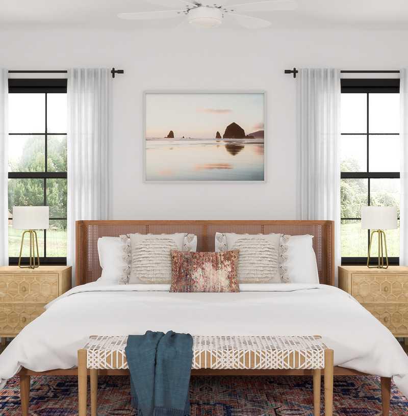 Bohemian Bedroom Design by Havenly Interior Designer Rafaela