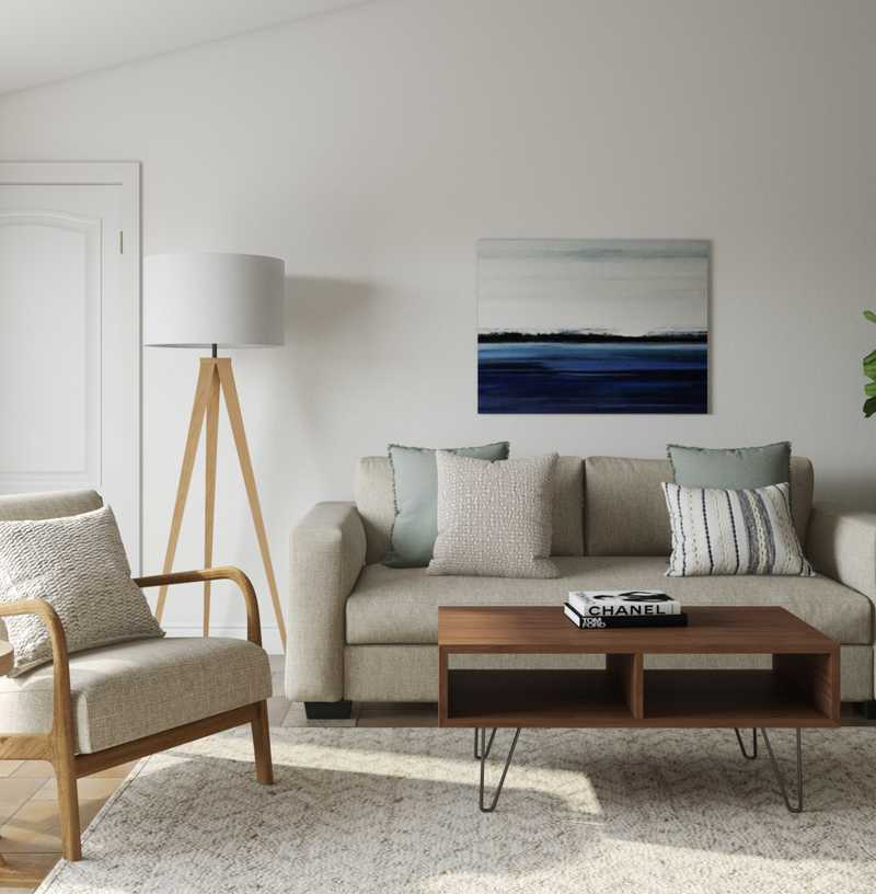 Modern, Bohemian, Coastal, Minimal, Scandinavian Living Room Design by Havenly Interior Designer Emma