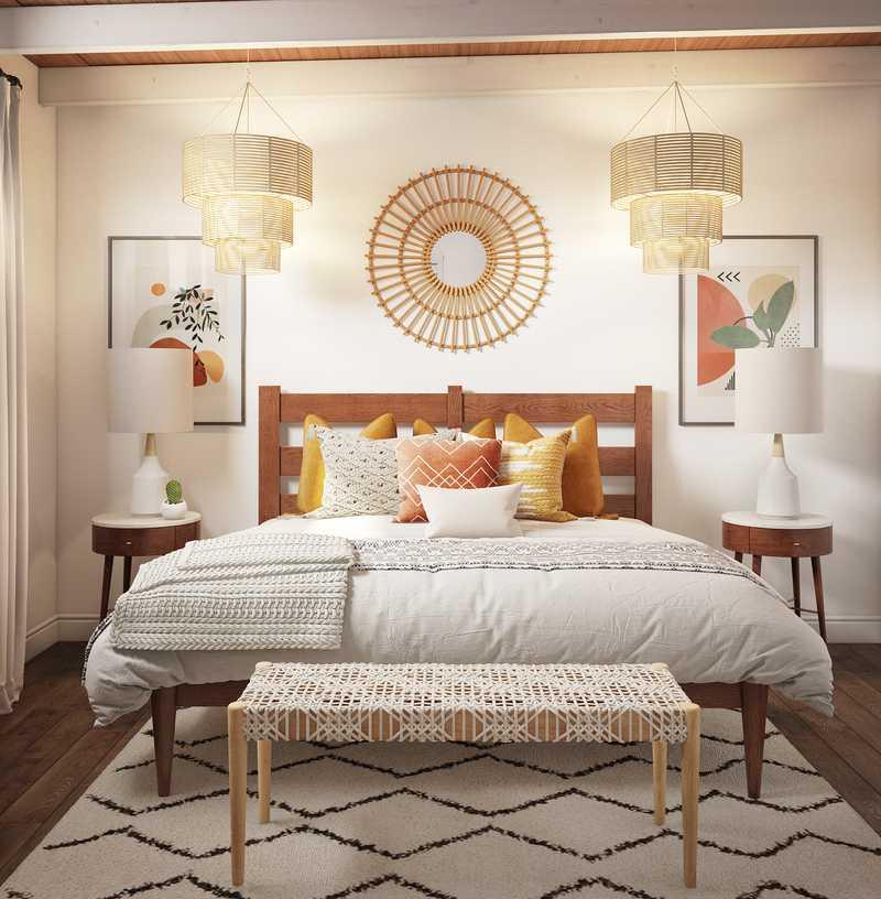 Bohemian, Global Bedroom Design by Havenly Interior Designer Ashlyn