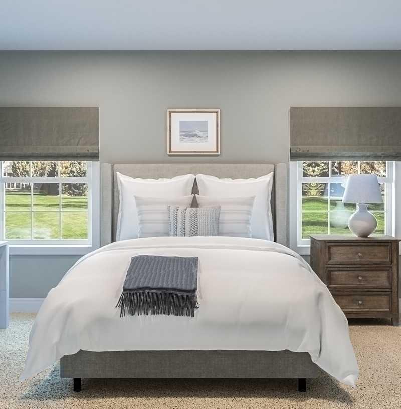 Classic, Coastal Bedroom Design by Havenly Interior Designer Brooke