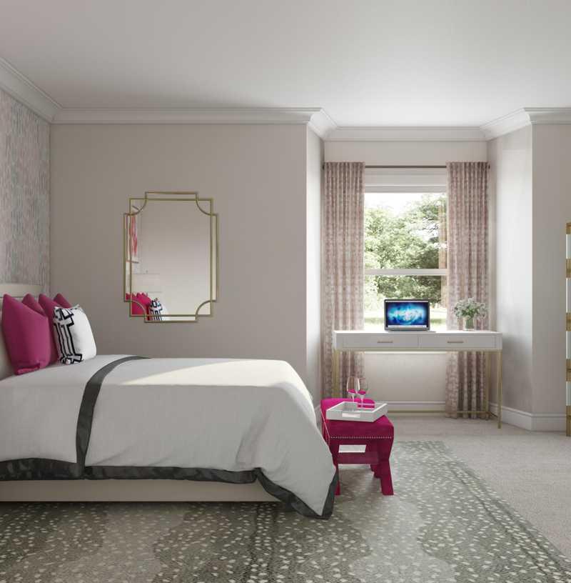 Eclectic, Preppy Bedroom Design by Havenly Interior Designer Jasmine