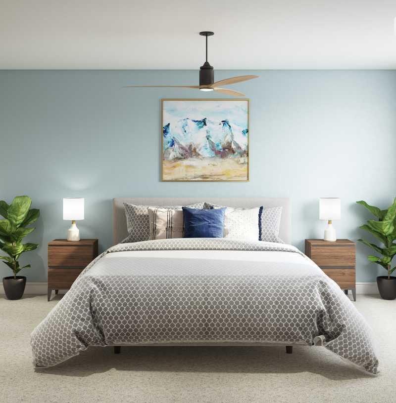 Classic, Midcentury Modern Bedroom Design by Havenly Interior Designer Laura
