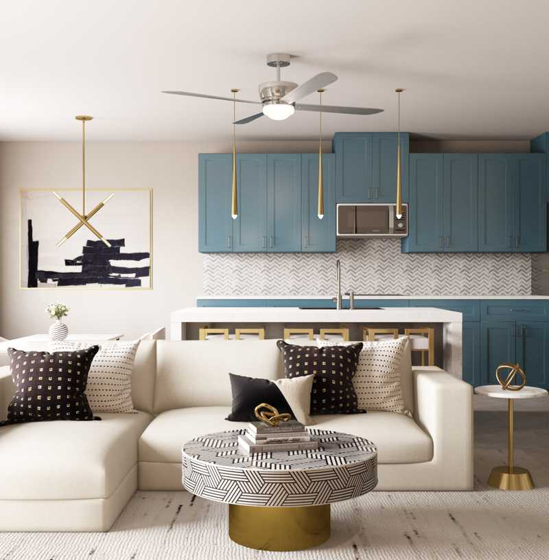 Modern, Glam Living Room Design by Havenly Interior Designer Alex
