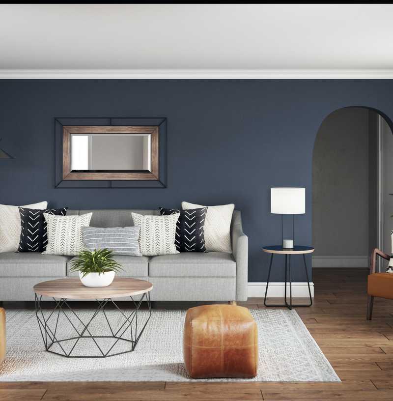 Modern, Industrial Living Room Design by Havenly Interior Designer Moumita