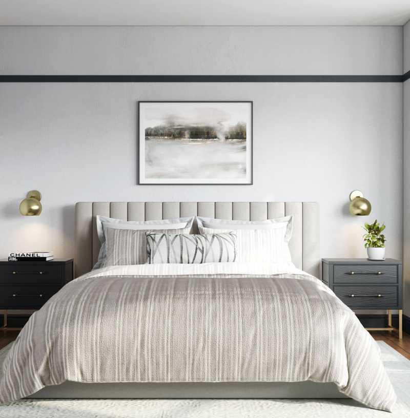 Classic, Transitional, Midcentury Modern Bedroom Design by Havenly Interior Designer Leslie