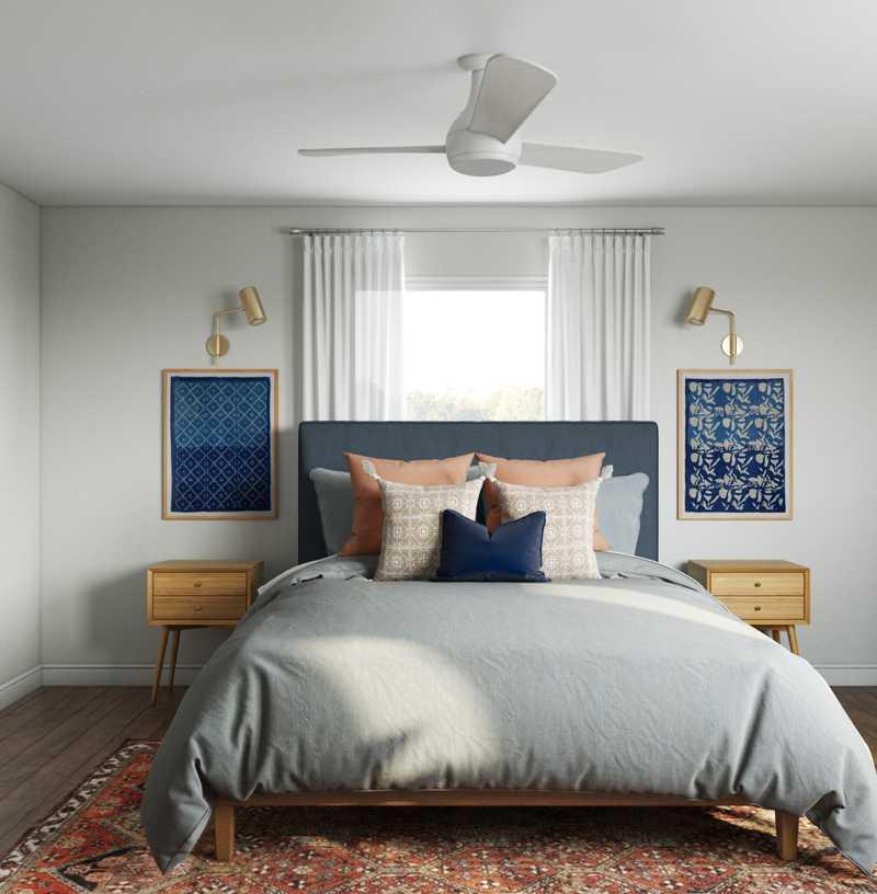 Contemporary, Modern, Midcentury Modern Bedroom Design by Havenly Interior Designer Sophia