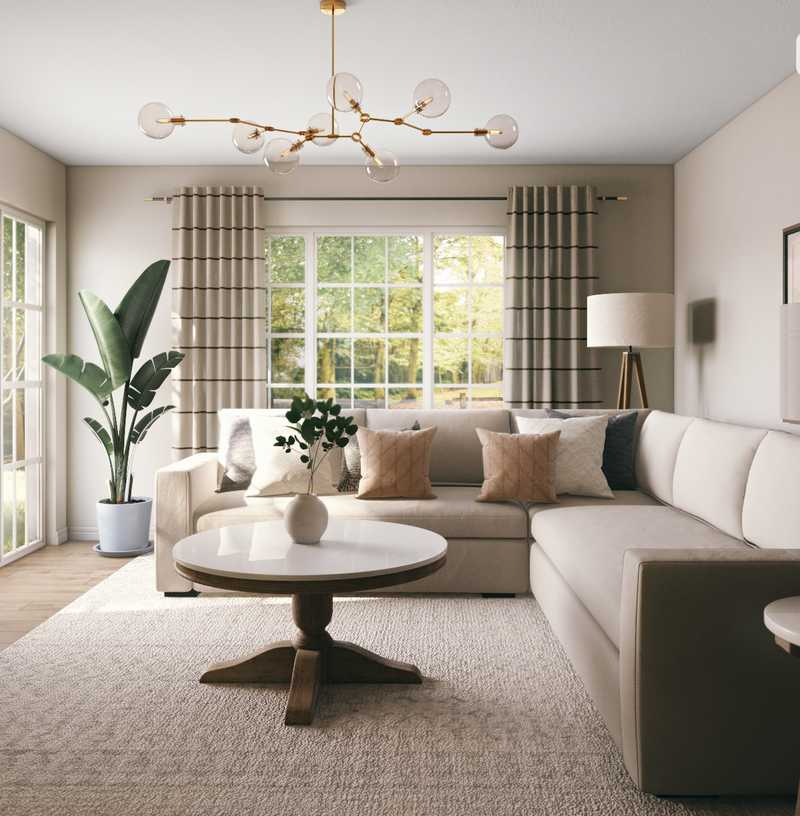 Classic, Traditional Living Room Design by Havenly Interior Designer Laura
