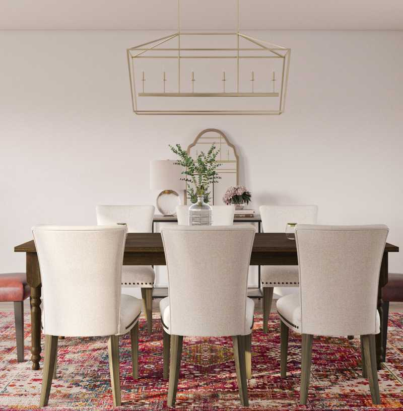 Classic, Coastal, Farmhouse, Transitional Dining Room Design by Havenly Interior Designer Taylor