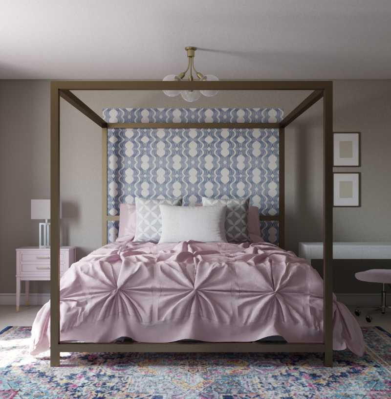 Glam, Transitional Bedroom Design by Havenly Interior Designer Paige