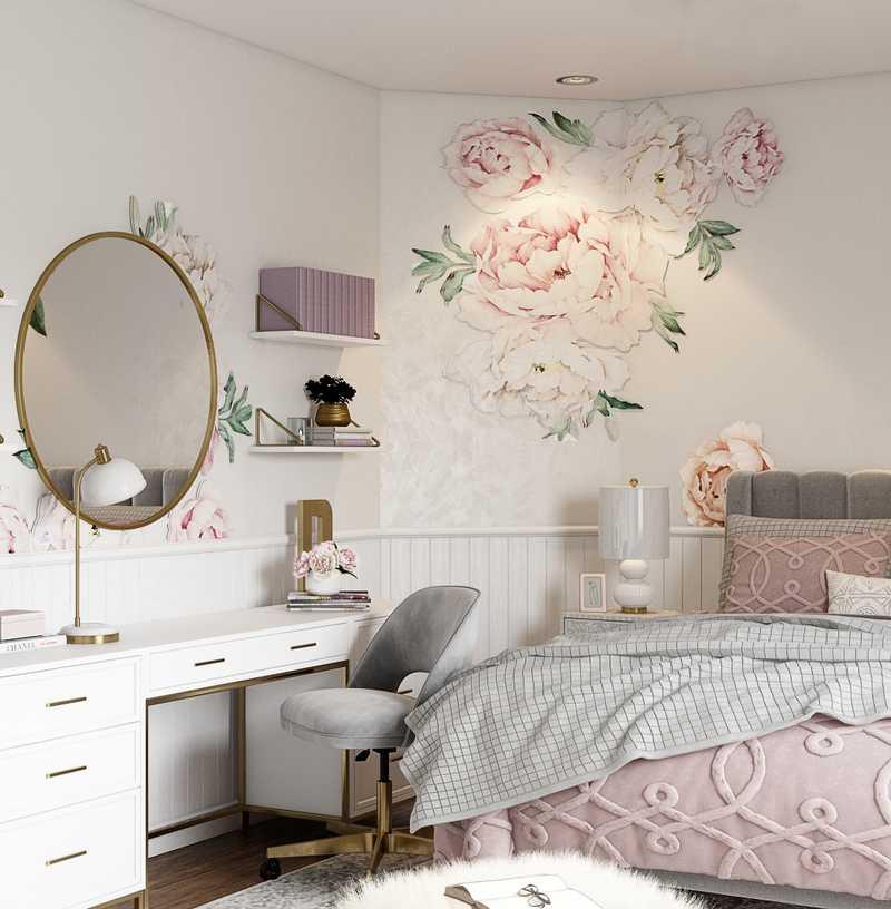 Classic, Glam Bedroom Design by Havenly Interior Designer Kelsey