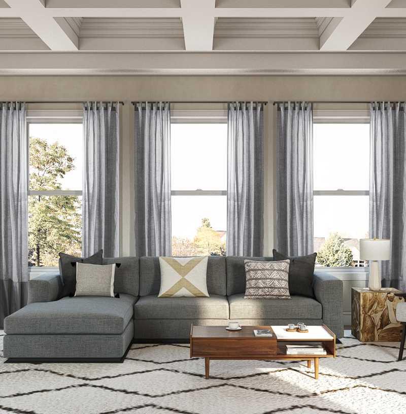 Modern, Minimal Living Room Design by Havenly Interior Designer Rania