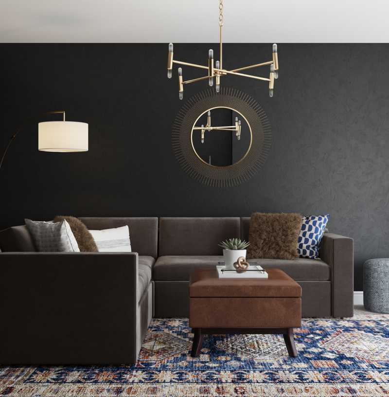 Contemporary, Modern, Classic, Glam Living Room Design by Havenly Interior Designer Emily