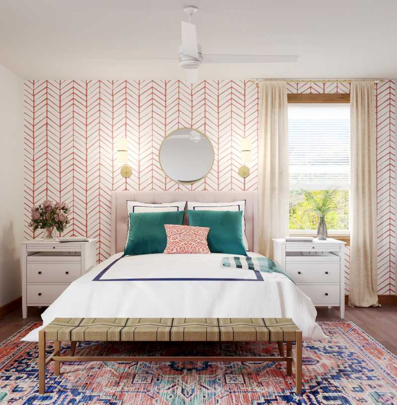 Modern, Eclectic Bedroom Design by Havenly Interior Designer Annie