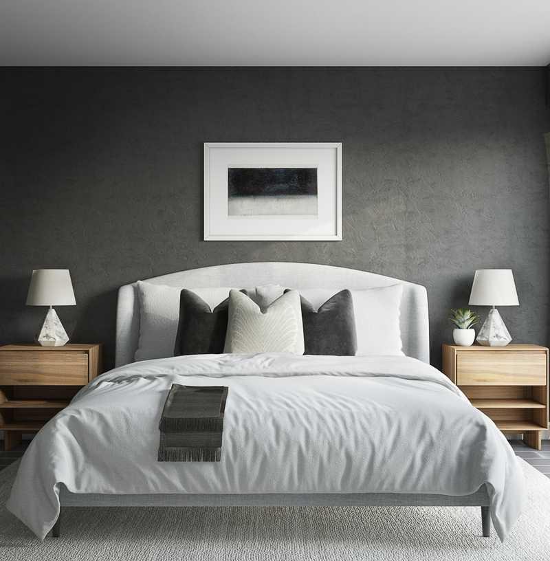 Modern, Industrial, Minimal, Scandinavian Bedroom Design by Havenly Interior Designer Madison