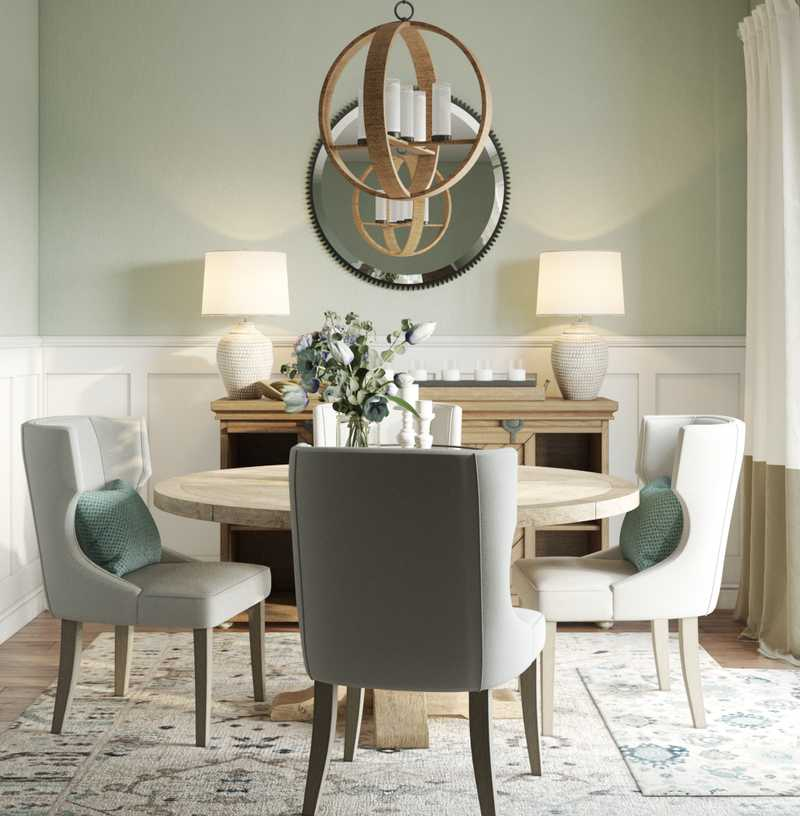 Contemporary, Coastal, Industrial, Farmhouse Dining Room Design by Havenly Interior Designer Melisa