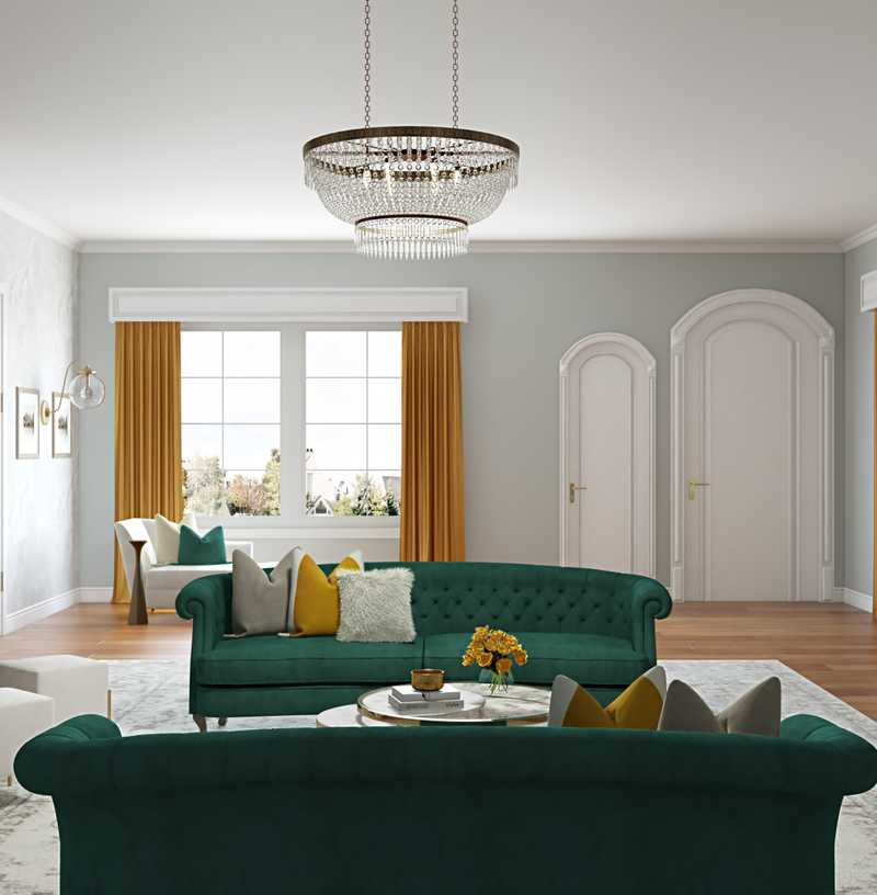 Classic, Glam, Traditional Living Room Design by Havenly Interior Designer Stacy