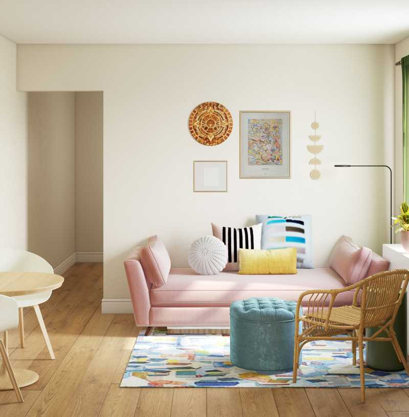 Eclectic, Bohemian, Global, Midcentury Modern, Scandinavian Living Room Design by Havenly Interior Designer Julieta