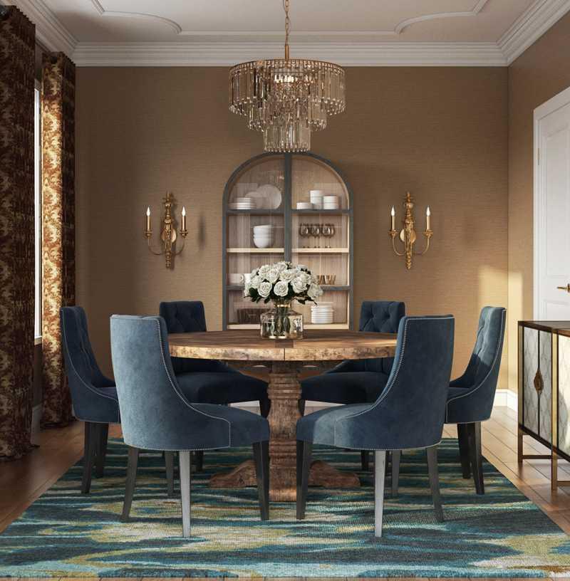 Glam Dining Room Design by Havenly Interior Designer Marcelo