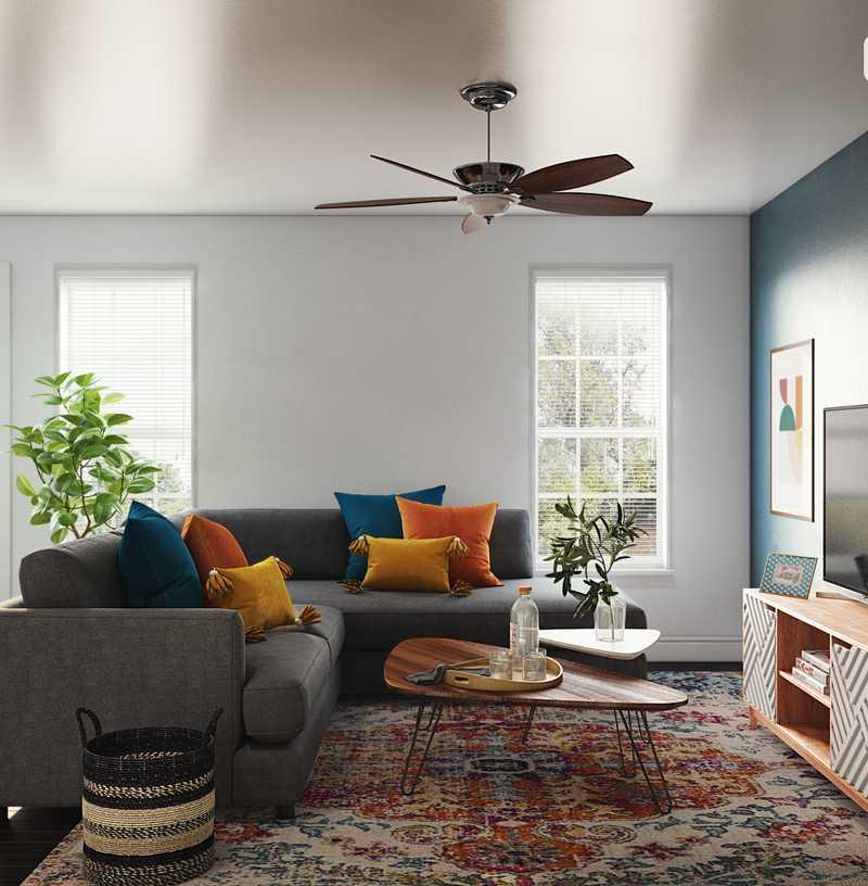 Midcentury Modern Living Room Design by Havenly Interior Designer Marlene