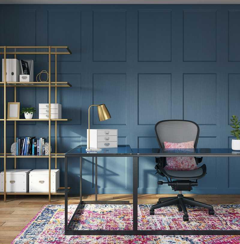 Preppy Office Design by Havenly Interior Designer Jennifer