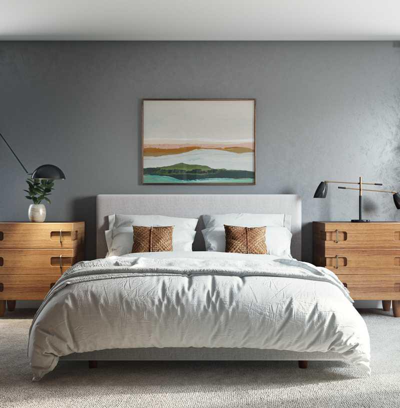 Contemporary, Midcentury Modern, Scandinavian Bedroom Design by Havenly Interior Designer Robyn