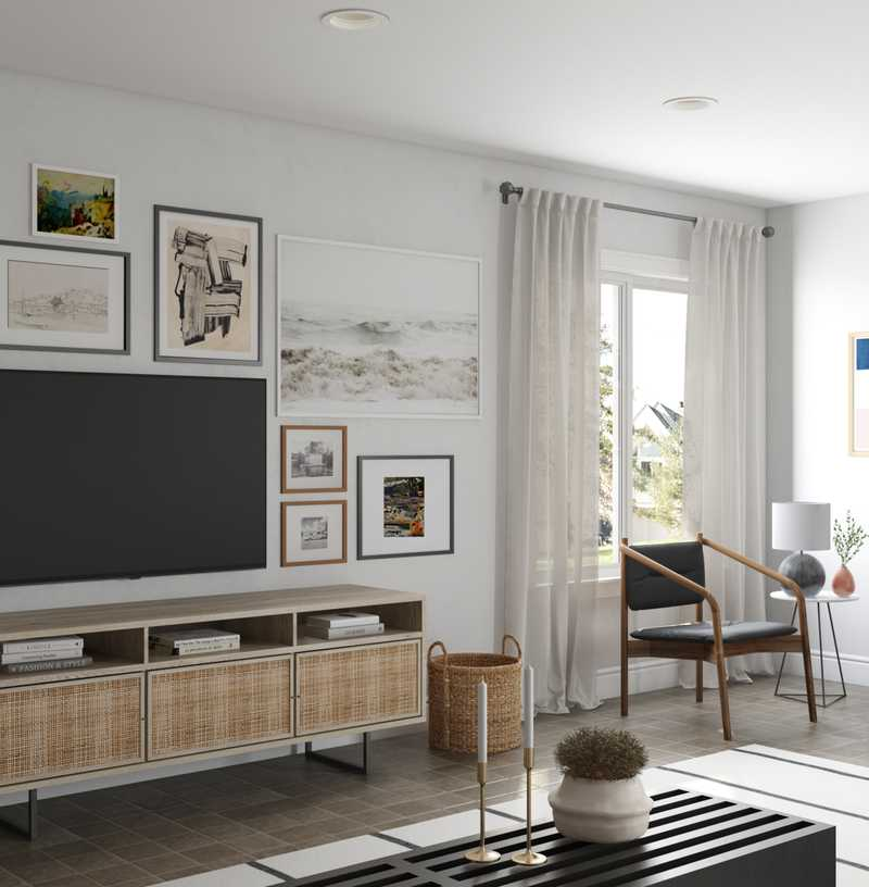 Modern, Eclectic, Traditional Living Room Design by Havenly Interior Designer Nichole