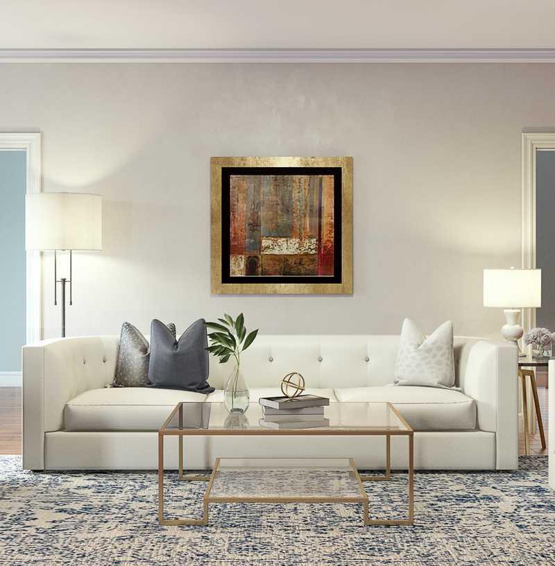 Classic Living Room Design by Havenly Interior Designer Christine