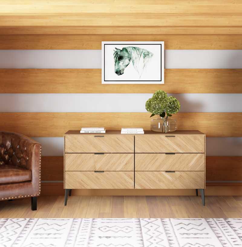 Modern, Rustic Bedroom Design by Havenly Interior Designer Haley