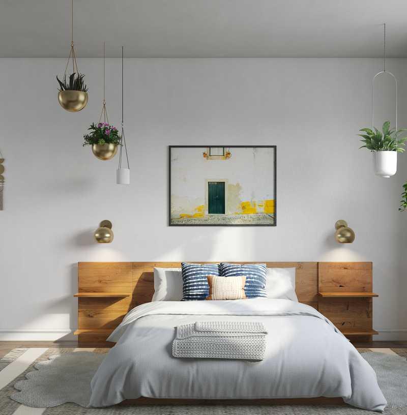 Modern, Bohemian, Glam Bedroom Design by Havenly Interior Designer Isabella