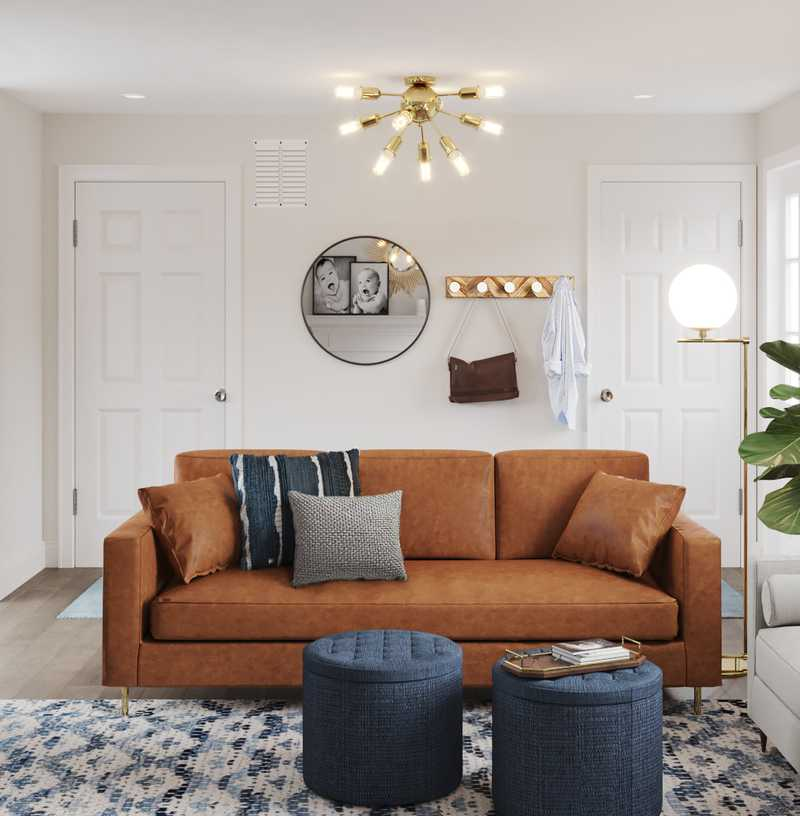 Eclectic, Bohemian, Global, Midcentury Modern Living Room Design by Havenly Interior Designer Essie