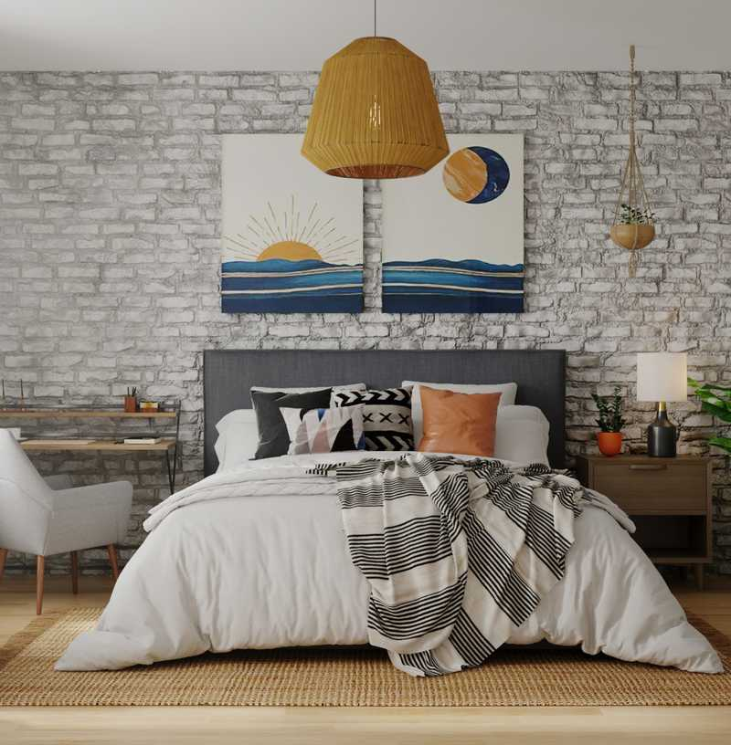 Modern, Bohemian, Global Bedroom Design by Havenly Interior Designer Cynthia