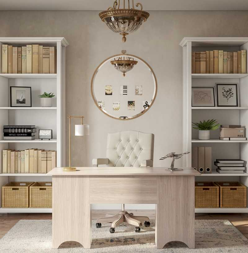 Contemporary, Classic, Traditional Office Design by Havenly Interior Designer Jennifer