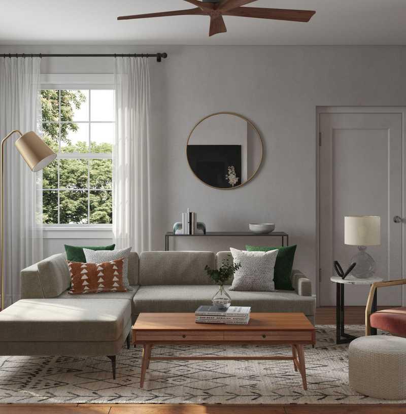 Modern, Bohemian, Midcentury Modern, Scandinavian Living Room Design by Havenly Interior Designer Jamie