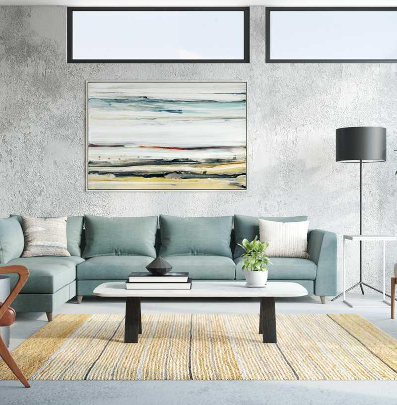 Midcentury Modern, Minimal Living Room Design by Havenly Interior Designer Sydney