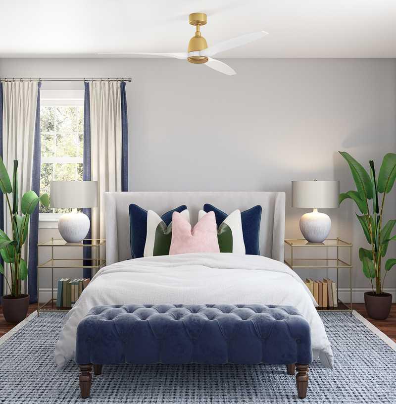 Coastal, Preppy Bedroom Design by Havenly Interior Designer Shirley